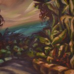 """Emma Edghill Curbed View, 2014 8 x 8"""" oil on canvas Unframed original $250"""