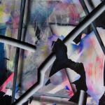 """Lauren Helena Pelc-McArthur Polar Liquor/Gum Commercial, 2015 18x24"""" acrylic and oil on canvas Unframed $200"""