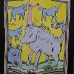 "Untitled Robert Dayton, 2011 12 x 16"" painting Unframed original $180"