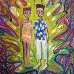 Lido Pimienta The Green Embrace 1, 2015 48x62cm, digital print, silkscreen, watercolour Unframed, edition 1/3 $250