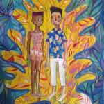 Lido Pimienta The Green Embrace 2, 2015 48x62cm, digital print, silkscreen, watercolour Unframed, edition 2/3 $250