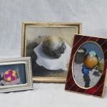 "Anuta Skrypnychenko Ice Scupltures Melting Outside Xpace, 2014 2x4"" each, framed photographs Set of 3 $50 each, $100 for the set"
