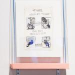 "Alison S.M Kobayashi Lost Cat, 2014 11x14"" gouache on paper Framed, original $100"