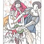 "Morgan Criger Artemisia, 2015 9.5 x 12"" watercolour Unframed original $100"