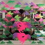 "Mary Tremonte Cruising Camoutopia 1.0, 2013 18x24"" silkscreen print on mirror Unframed, original $100"